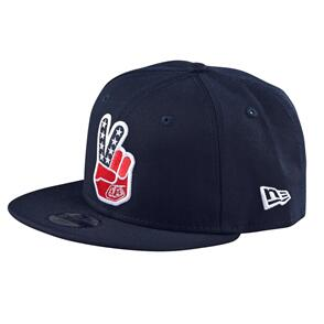 TROY LEE DESIGNS PEACE SIGN SNAPBACK NAVY