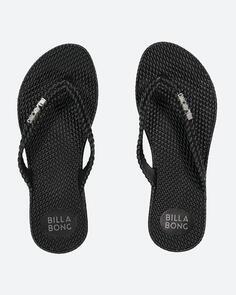 BILLABONG WOMENS KICK BACK THONG - BLACK 2