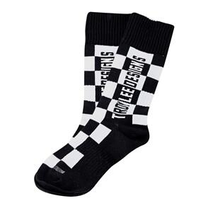TROY LEE DESIGNS 2021 YOUTH GP MX THICK SOCK CHECKERS BLACK