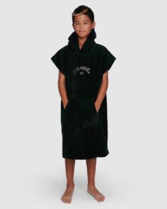 BILLABONG 2021 BOYS HOODED TOWEL BLACK