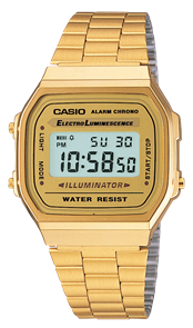 CASIO GOLD VINTAGE DIGITAL WATCH