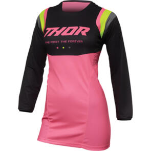 THOR 2022 JERSEY PULSE WOMENS REV CHARCOAL/FLO PINK