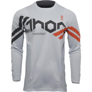 THOR 2022 JERSEY PULSE YOUTH CUBE LIGHT GREY/RED ORANGE