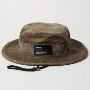AFENDS ORION - HEMP CORDUROY BUCKET HAT - BEECHWOOD