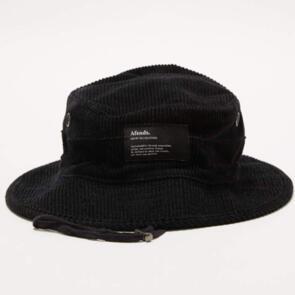 AFENDS ORION - HEMP CORDUROY BUCKET HAT - BLACK