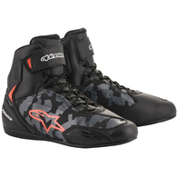 ALPINESTARS 2020 FASTER SHOES BLACK/GRAY CAMO/RED FLUORO