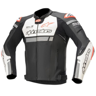 ALPINESTARS 2020 MISSILE IGNITION TECH-AIR LEATHER JACKET BLACK/WHITE/RED FLUORO