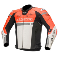 ALPINESTARS 2020 MISSILE IGNITION TECH-AIR LEATHER JACKET RED FLUORO/WHITE/BLACK