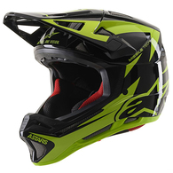 ALPINESTARS 2020 MISSILE TECH AIRLIFT HELMET GLOSS BLACK/YELLOW FLUORO