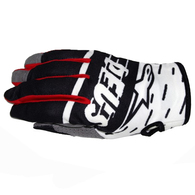 ALPINESTARS 2020 RADAR GLOVES LE X DEUS 20 BLACK/WHITE/DEEP RED