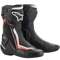 ALPINESTARS 2020 S-MX PLUS V2 BOOTS BLACK/WHITE/RED FLUORO