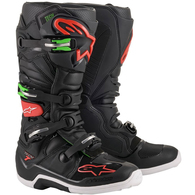 ALPINESTARS 2020 TECH-7 MX BOOTS BLACK/RED/GREEN
