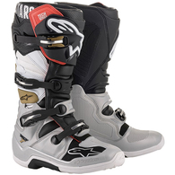 ALPINESTARS 2020 TECH-7 MX BOOTS BLACK/SILVER/WHITE/GOLD