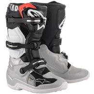 ALPINESTARS 2020 TECH-7S YOUTH MX BOOTS BLACK/SILVER/WHITE/GOLD