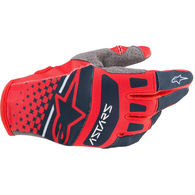 ALPINESTARS 2020 TECHSTAR GLOVES BRIGHT RED/NAVY