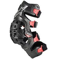 ALPINESTARS BIONIC-10 CARBON KNEE BRACE LEFT BLACK/RED