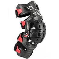 ALPINESTARS BIONIC-10 CARBON KNEE BRACE RIGHT BLACK/RED