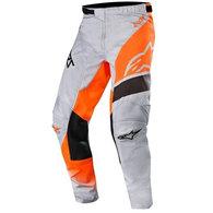 ALPINESTARS RACER SUPERMATIC PANTS LIGHT GRAY/ORANGE FLUORO/BLACK