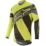 ALPINESTARS RACER TECH ATOMIC BLACK YELLOW FLUORO GRAY