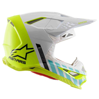 ALPINESTARS SUPERTECH S-M8 X TECH 7 GREY YELLOW COMBO