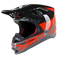 ALPINESTARS SUPERTECH S-M8 FLURO RED X TECH 7 BLACK COMBO
