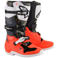 ALPINESTARS TECH-7S LE YOUTH MX BOOTS MAGNETO 19 BLACK/RED FLUORO