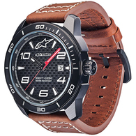 ALPINESTARS TECH WATCH 3H BLACK BLACK LEATHER