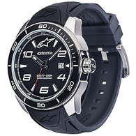 ALPINESTARS TECH WATCH 3H SATINED STEEL BLACK SILICONE