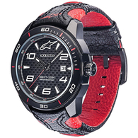 ALPINESTARS TECH WATCH RACE 3H BLACK RED LEATHER