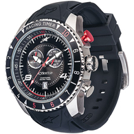 ALPINESTARS TECH WATCH RACING TIMER BLACK STEEL SILICONE