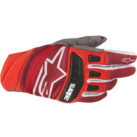 ALPINESTARS TECHSTAR GLOVES RED BURGUNDY