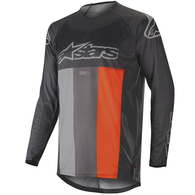 ALPINESTARS TECHSTAR VENOM ANTHRACITE GRAY ORANGE FLUO