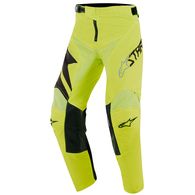 ALPINESTARS YOUTH RACER FACTORY PANTS BLACK YELLOW FLUORO