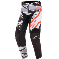 ALPINESTARS YOUTH RACER TACTICAL PANTS BLACK GRAY CAMO RED FLUORO