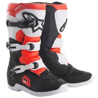 ALPINESTARS YOUTH TECH-3S MX BOOTS BLACK WHITE RED FLUORO
