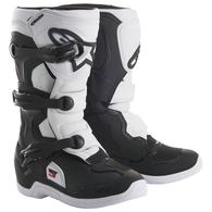 ALPINESTARS YOUTH TECH-3S MX BOOTS BLACK WHITE