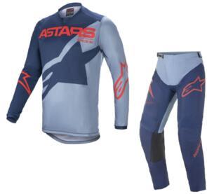 ALPINESTARS 2021 RACER BRAAP JERSEY + PANTS  BLUE/RED