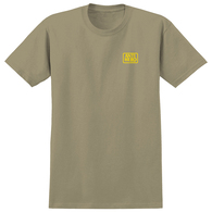 ANTI HERO RESERVE S/S T-SHIRT SAND W/ YELLOW PRINT