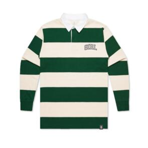 GIRL ARCH STRIPED RUGBY NATURAL/FOREST
