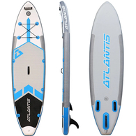 "ATLANTIS ISUP FUSION 10'0"" GREY BLUE - DROP STITCH TECH"