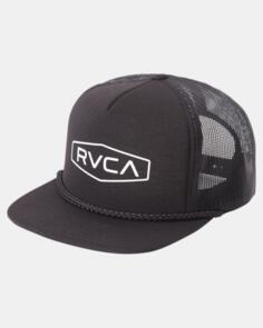 RVCA STAPLE FOAM TRUCKER BLACK