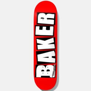 BAKER BRAND LOGO WHITE DECK 8.125 BLK/RED
