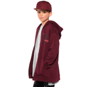 BAND OF BOYS BANDITS LIGHTNING TIGER CLASSIC ZIP HOOD MAROON