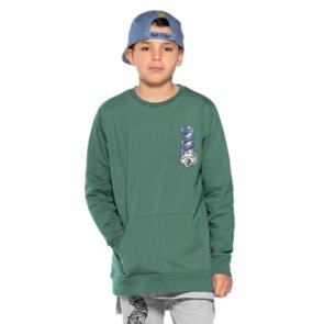 BAND OF BOYS BANDITS SNAKE KEY POCKET CLASSIC CREW GREEN