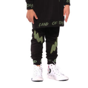 BAND OF BOYS DOUBLE LIGHTNING POCKET SKINNY TRACKIES BLACK