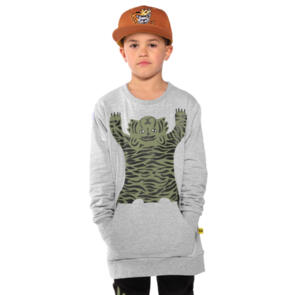 BAND OF BOYS EASY TIGER POCKET CLASSIC CREW MARLE GREY