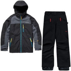 ONEILL SNOW YOUTH ASTRON JACKET + ANVIL PANTS BLACK OUT