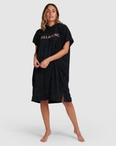 BILLABONG 2021 HOODED TOWEL BLACK
