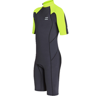 BILLABONG 2019 BOYS 202 ABSOLUTE BZ SPRINGSUIT NEON YELLOW
