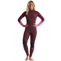 BILLABONG 2020 WOMENS 302 FURNACE SYNERGY BZ STEAMER MAROON